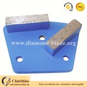 floor two diamond segments trapezoid diamond grinding plates for grinding concrete