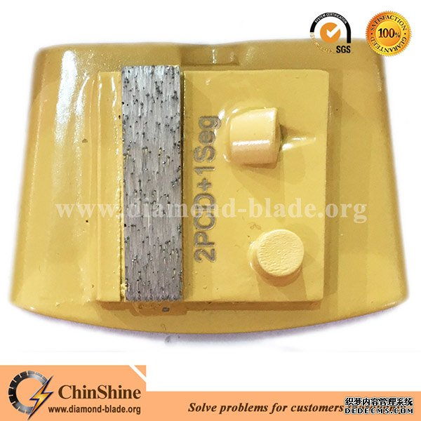 Diamond HTC PCD concrete grinding pad shoe for floor grinder