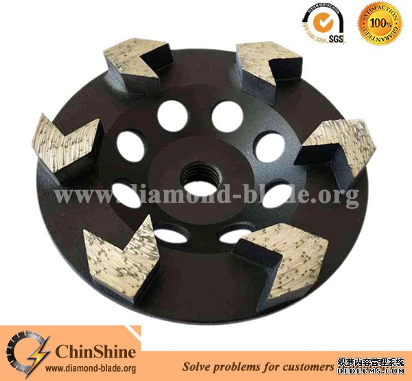 arrow shapes diamond grinding cup wheels