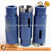 35mm stone dry diamond core drill bit for granite drilling heat radiation