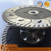 Diamond Blade Granite Turbo Cutting And Grinding Disc With Flange
