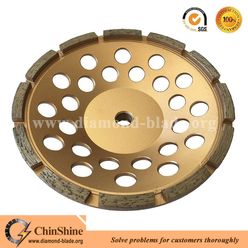 single row diamond grinding cup wheel for concrete