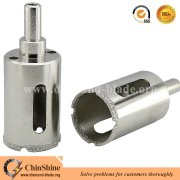 Electroplated diamond core drill bits for marble,glass and ceramic tile