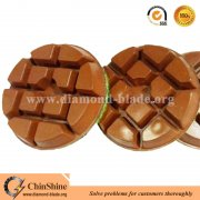 Velcro backing copper bond transitional floor resin polishing pads