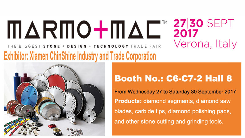 2017 MARMO+MAC Verona Italy diamond tools