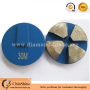 Beveled edge redi lock diamond grinding disc for Terrco floor grinding machine
