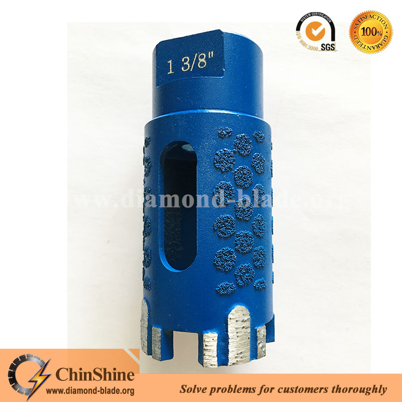 dry use stone diamond core drill bits for granite marble with protect teeth