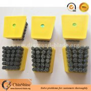 Reinforced frankfurt silicon carbide polishing abrasive brush for marble for sale