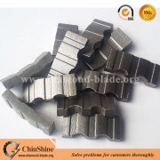 High efficiency turbo diamond core drill bit segment for concrete