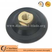 "Rubber backing pad for polishing pads with M14 and 5/8""-11 thread"