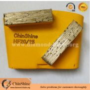Double bar HTC easy change diamond grinding shoe for concrete