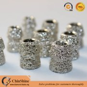 Vacuum brazed diamond wire saw beads for marble quarry stone cutting