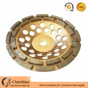 "7"" double row diamond grinding cup wheel for concrete and stone"