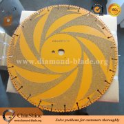 Vacuum brazed general purpose diamond rescue saw blade for firefighter