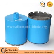 Bronze welded diamond wet core drill bits for concrete and stone